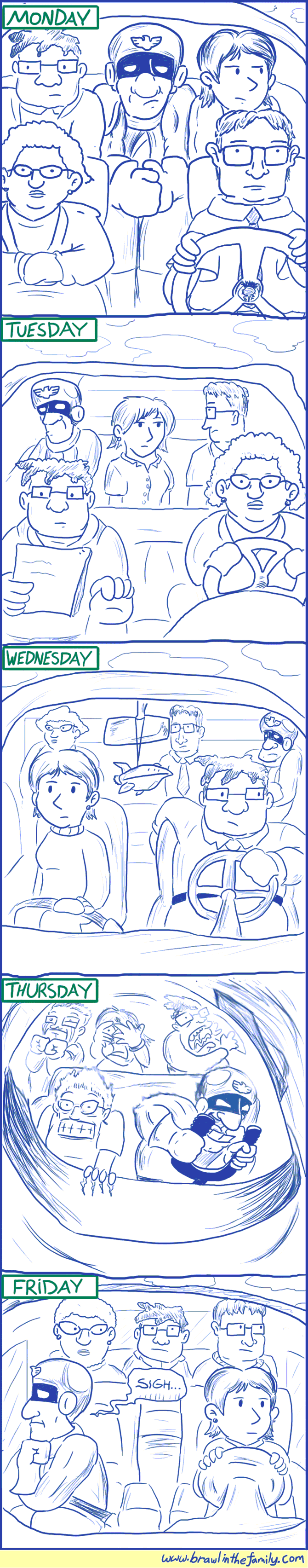 158 – Captain Falcon Carpools to Work