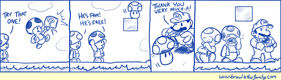 The Piranha Plants were none too happy with Mario's ingestion of Fire Flowers either