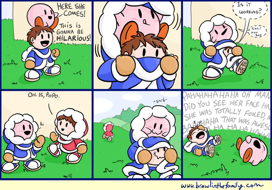 Kirby later sought out Ness to attempt the same gag.
