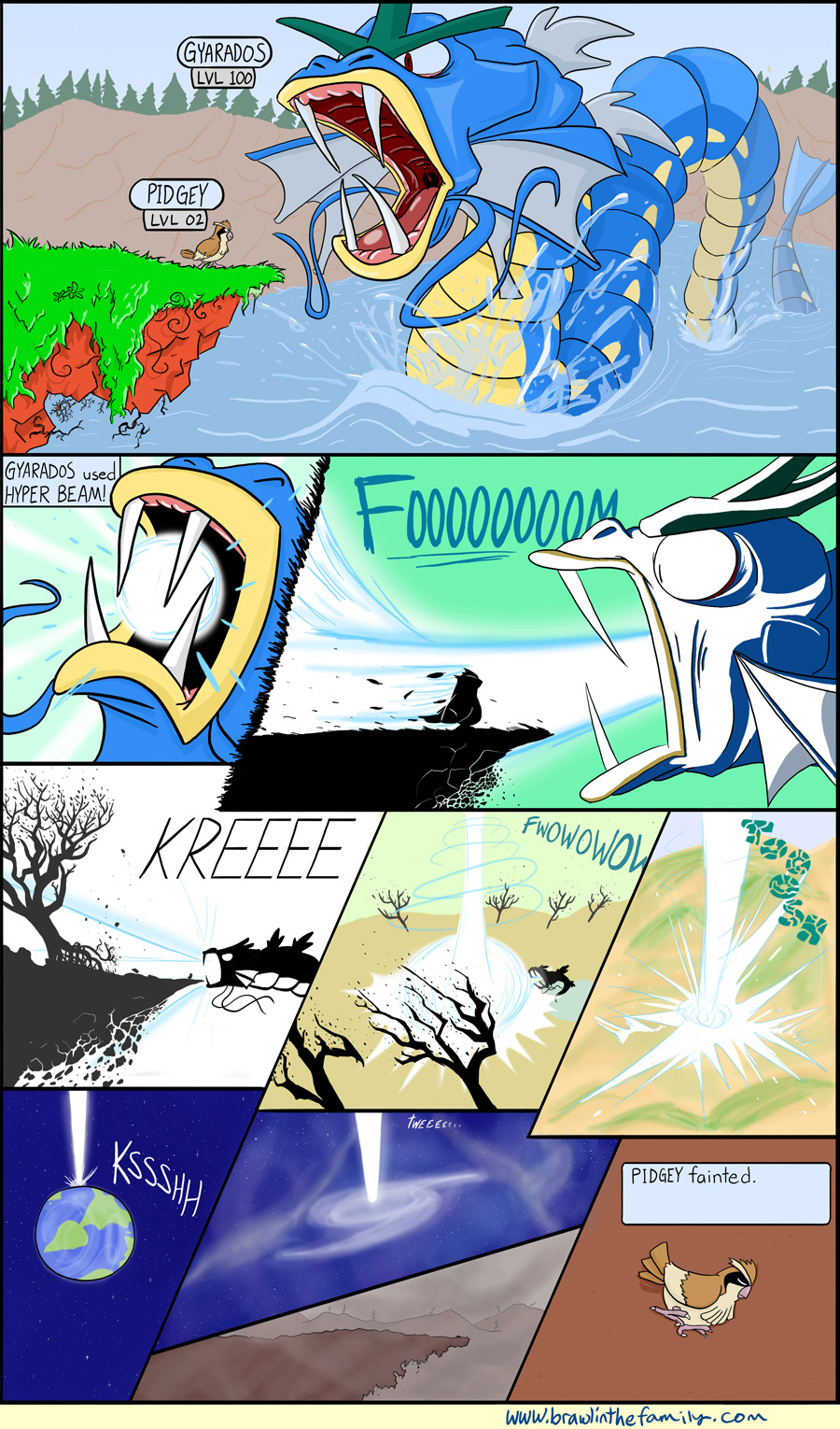 Gyarados trainers have it rough due to the collateral damage.