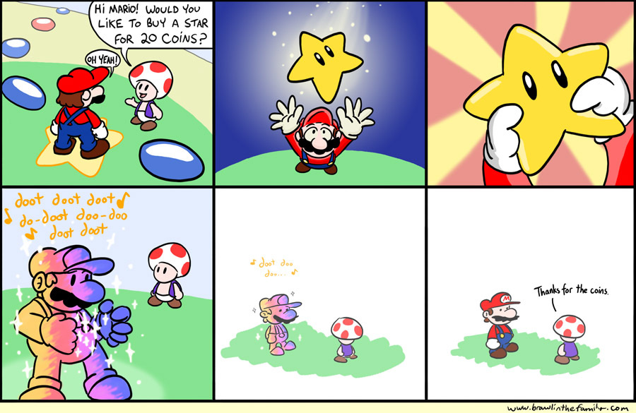 Mario decided to stop inviting Toad to these things.