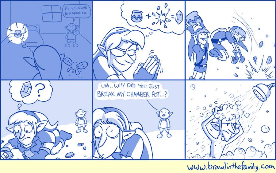 Link has a pot problem.