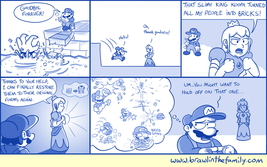 ''Plus, he turned all the Yoshis into Super Mushrooms!''