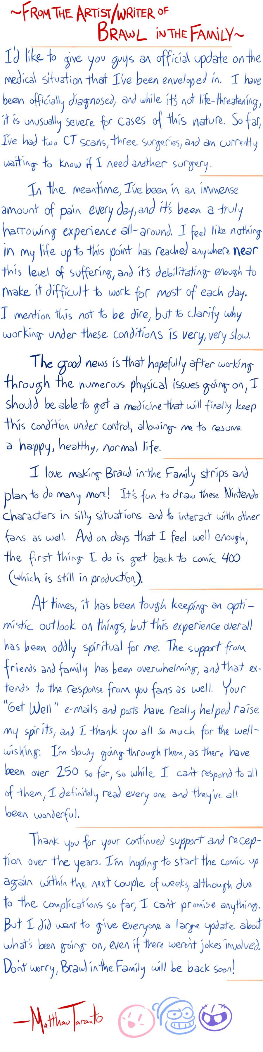 Letter Update