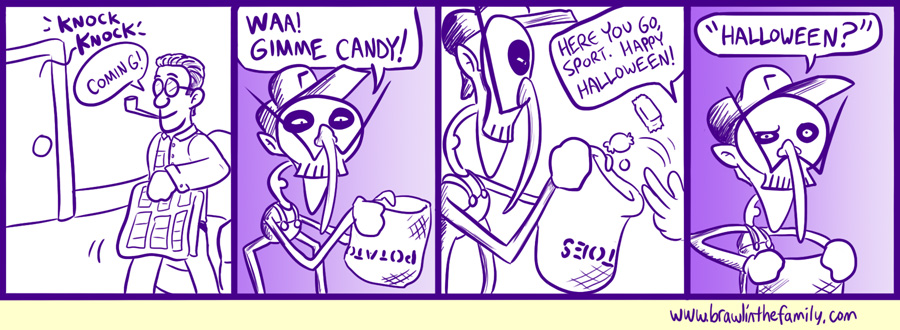 Scaring children, taking candy, egging houses--it's just another regular day for Waluigi.