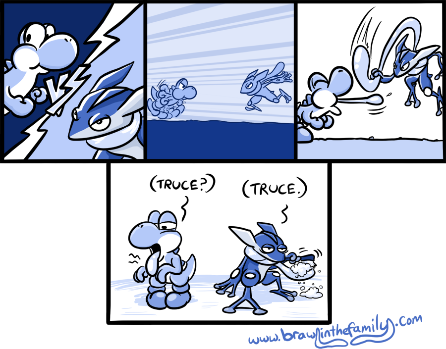Greninja has it rough.